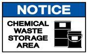 Chemical waste storage area