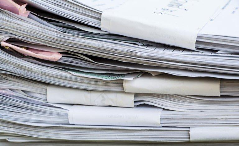 conserazione documenti rifiuti